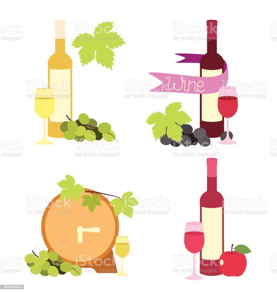 Illustration of wine vector art illustration