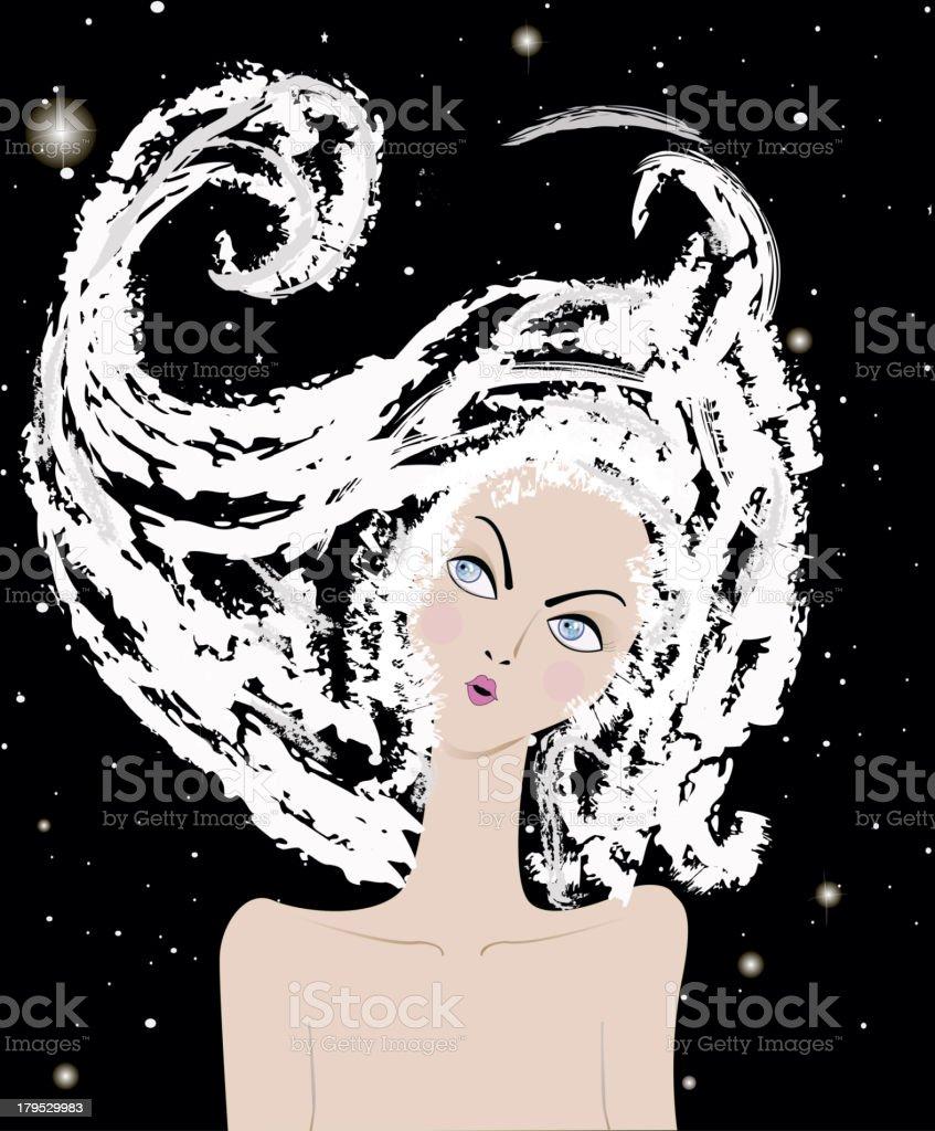 illustration of winter girl royalty-free stock vector art