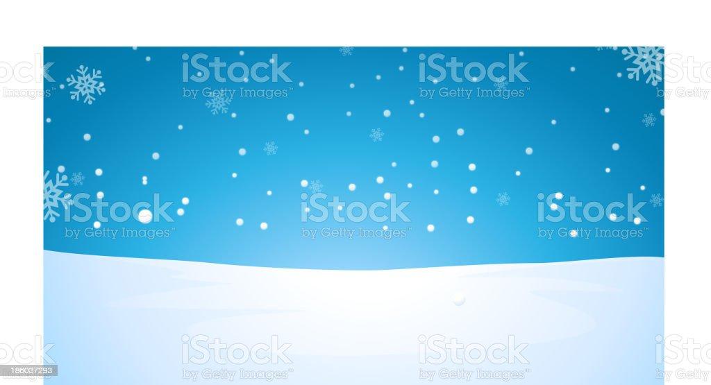 Illustration of winter landscape royalty-free stock vector art