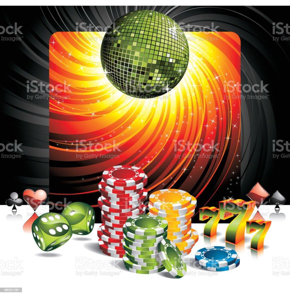 Illustration on a casino theme. royalty-free stock vector art