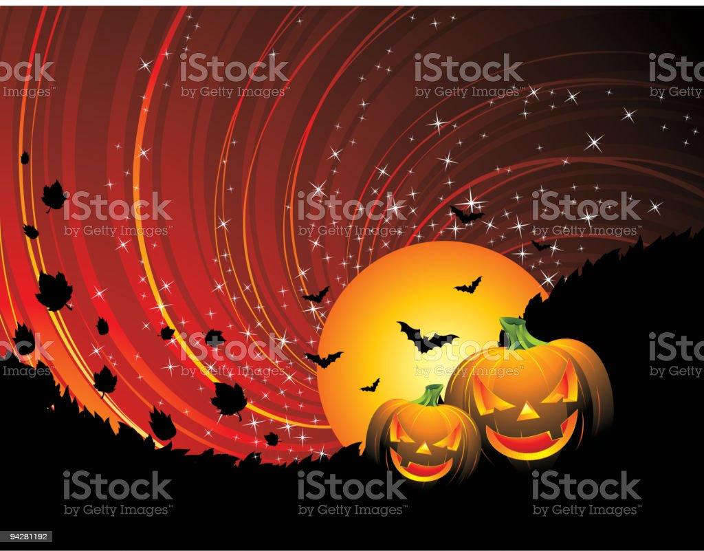 illustration on a Halloween theme royalty-free stock vector art