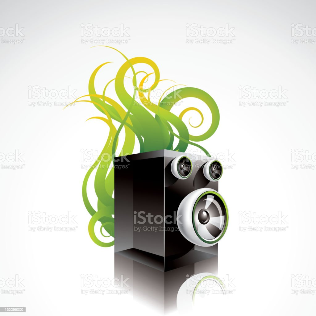 Illustration on a musical theme with speaker. royalty-free stock vector art