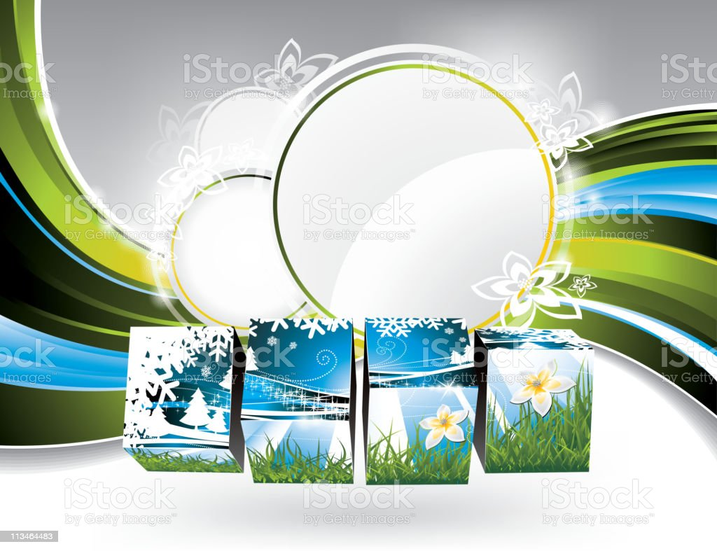Illustration on a spring and nature theme. vector art illustration