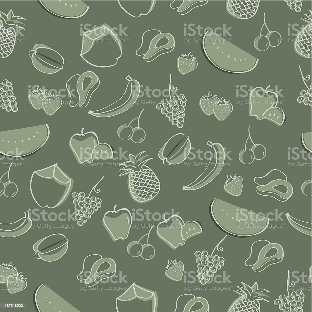 illustration pattern: fruits royalty-free stock vector art