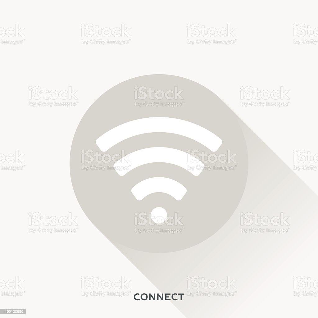 Illustration representing Wi-Fi features vector art illustration