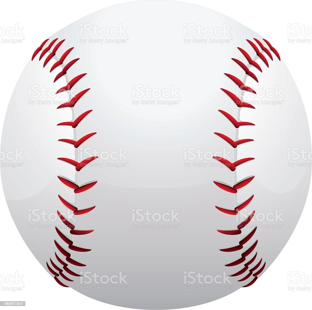 Illustration represents a baseball or softball vector art illustration