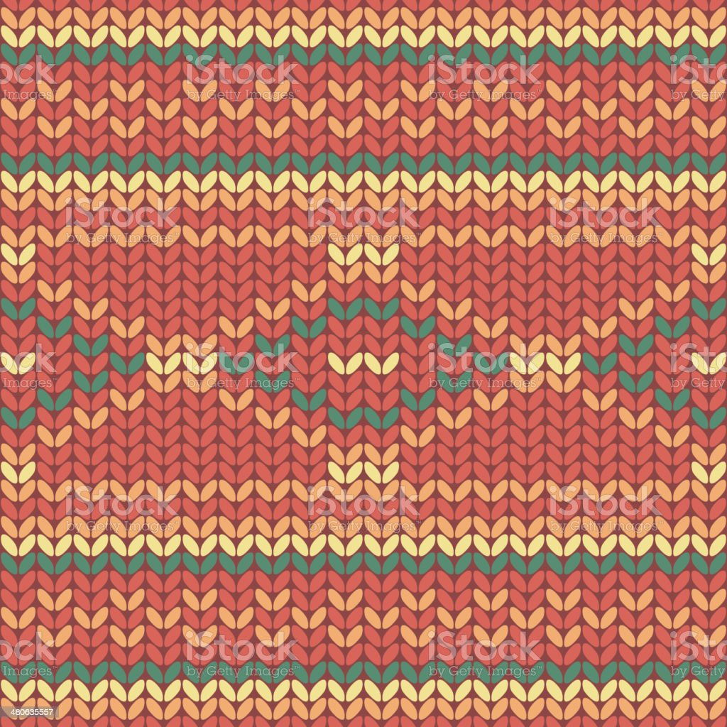 Illustration seamless knitted pattern. royalty-free stock vector art