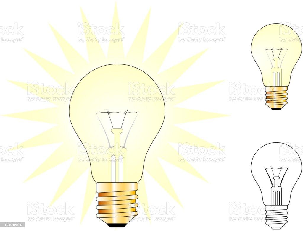 Illustration Series of Light Bulbs royalty-free stock vector art
