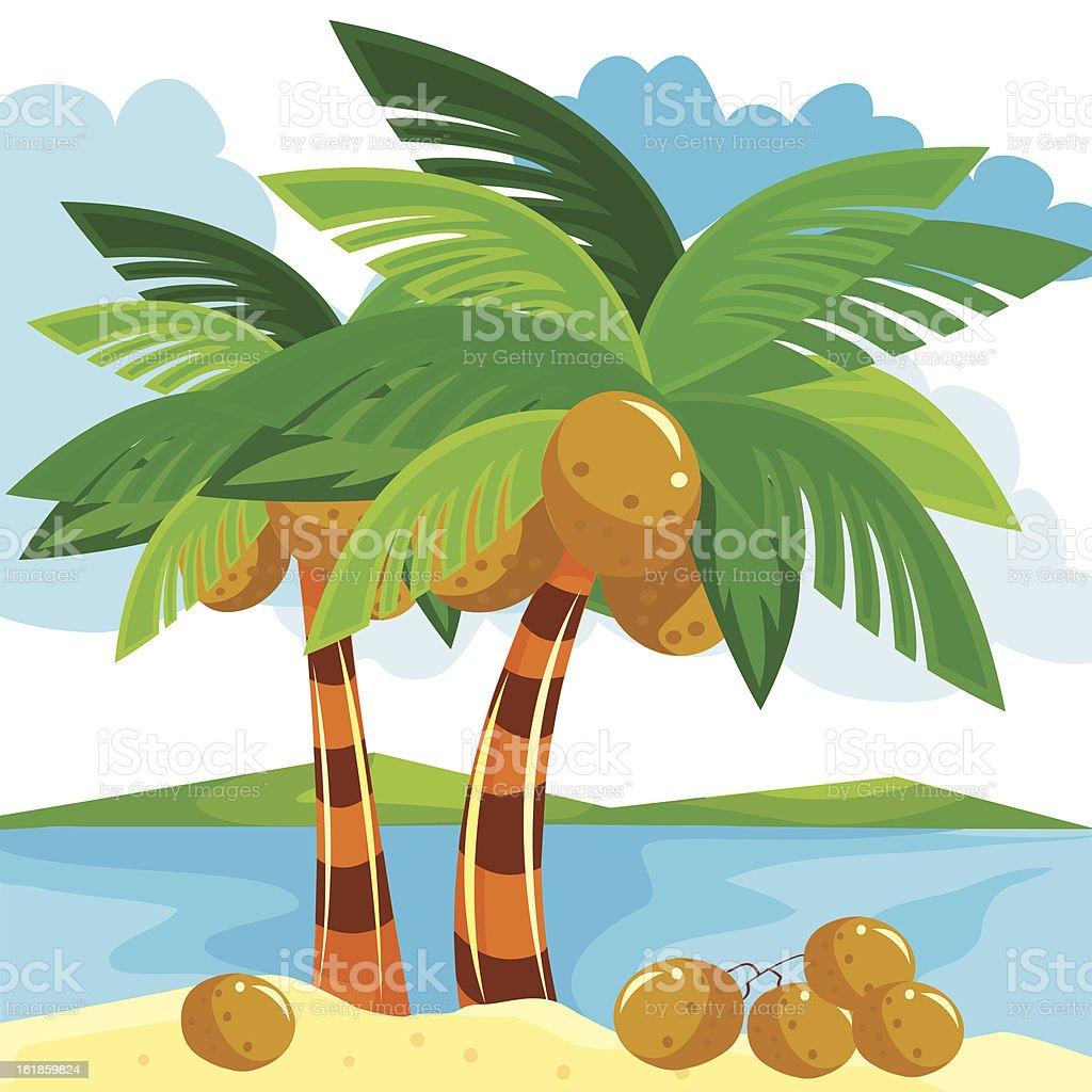 illustration Small Island royalty-free stock vector art