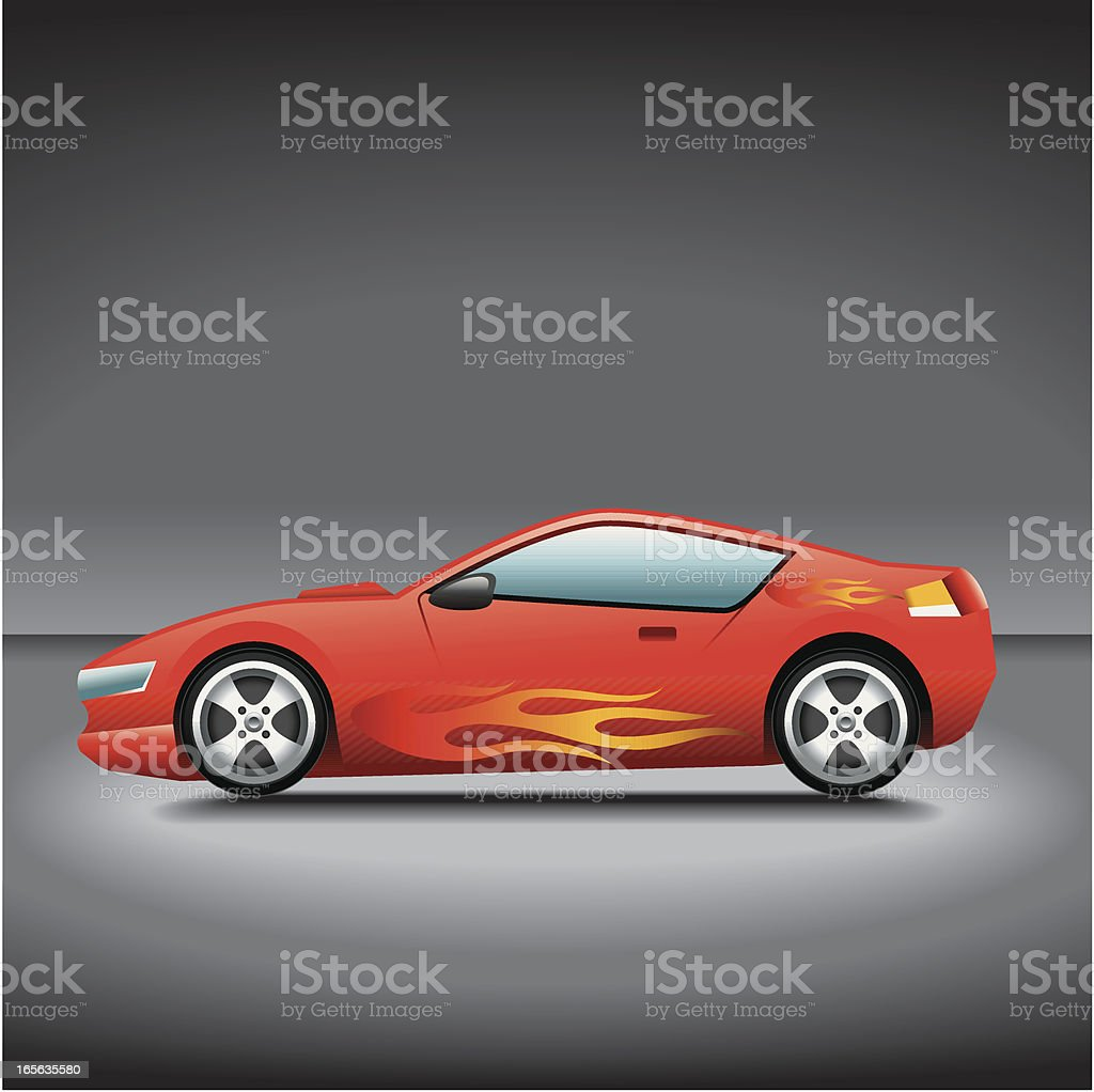 Illustration, Sport Car royalty-free stock vector art