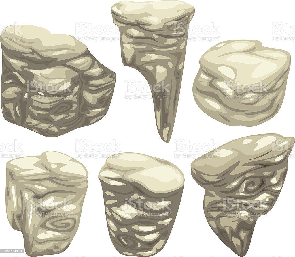 illustration Stones set vector art illustration