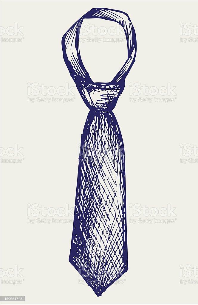 Illustration tie royalty-free stock photo