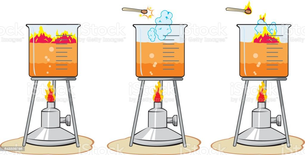 Illustration vector Experience of laboratory catalyst vector art illustration