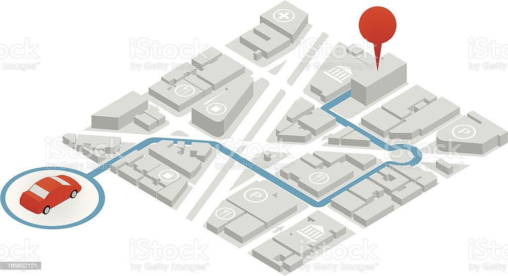 GPS Illustration royalty-free stock vector art