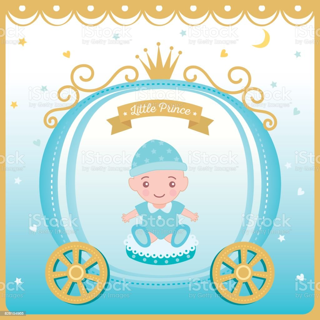 Illustration vector of baby shower greeting card for new born illustration vector of baby shower greeting card for new born decorated with prince cart and crown kristyandbryce Image collections