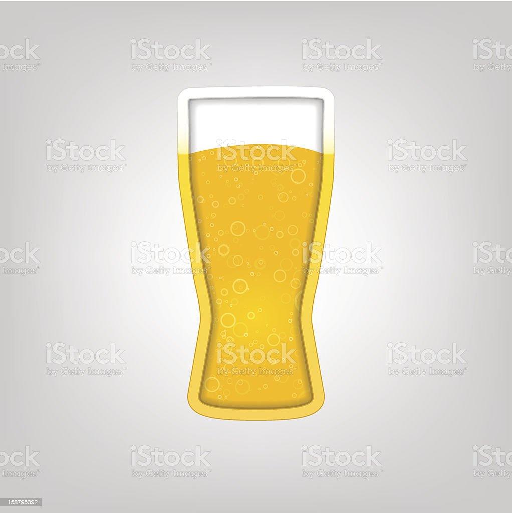 illustration avec un verre de bière stock vecteur libres de droits libre de droits