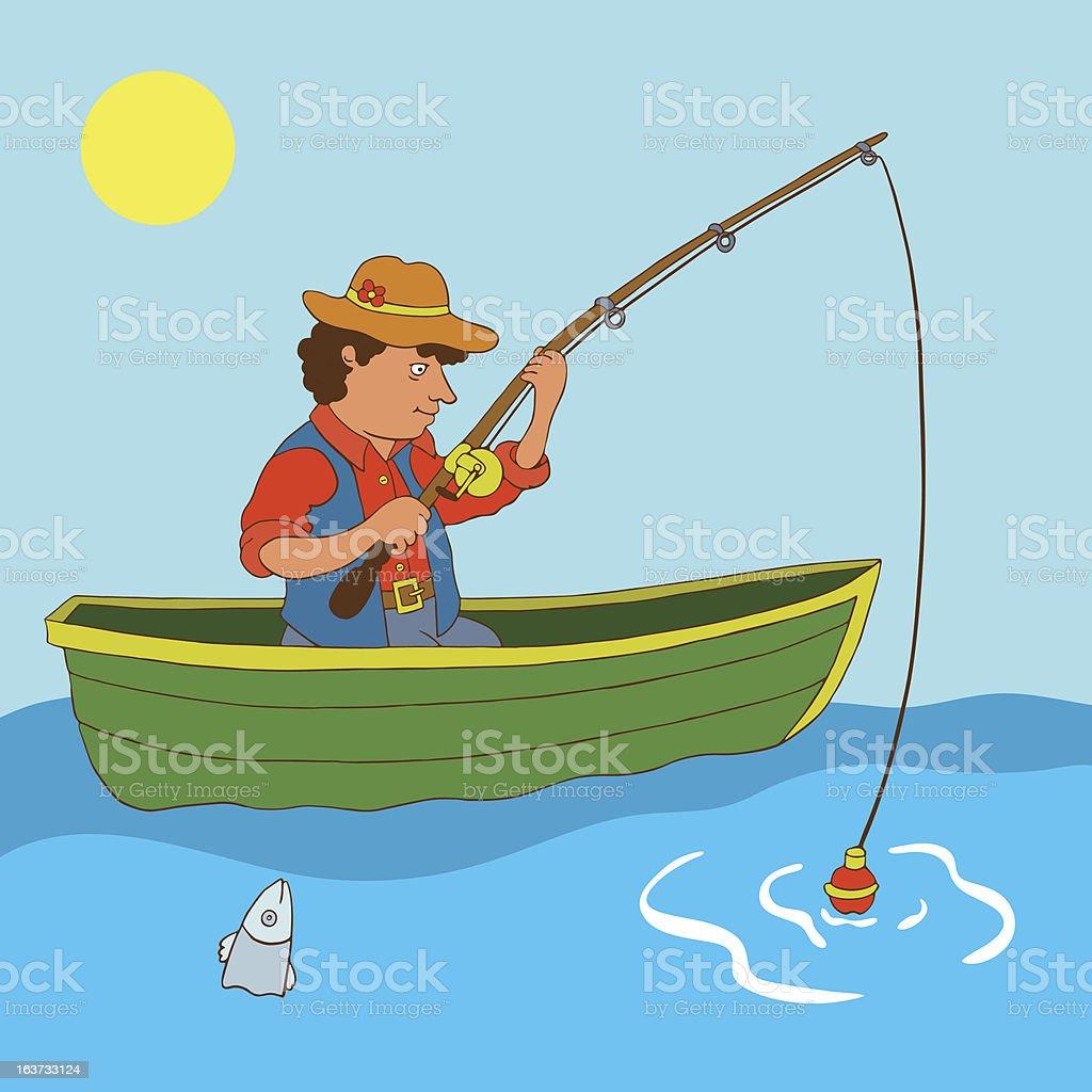 срисовать рыбалку