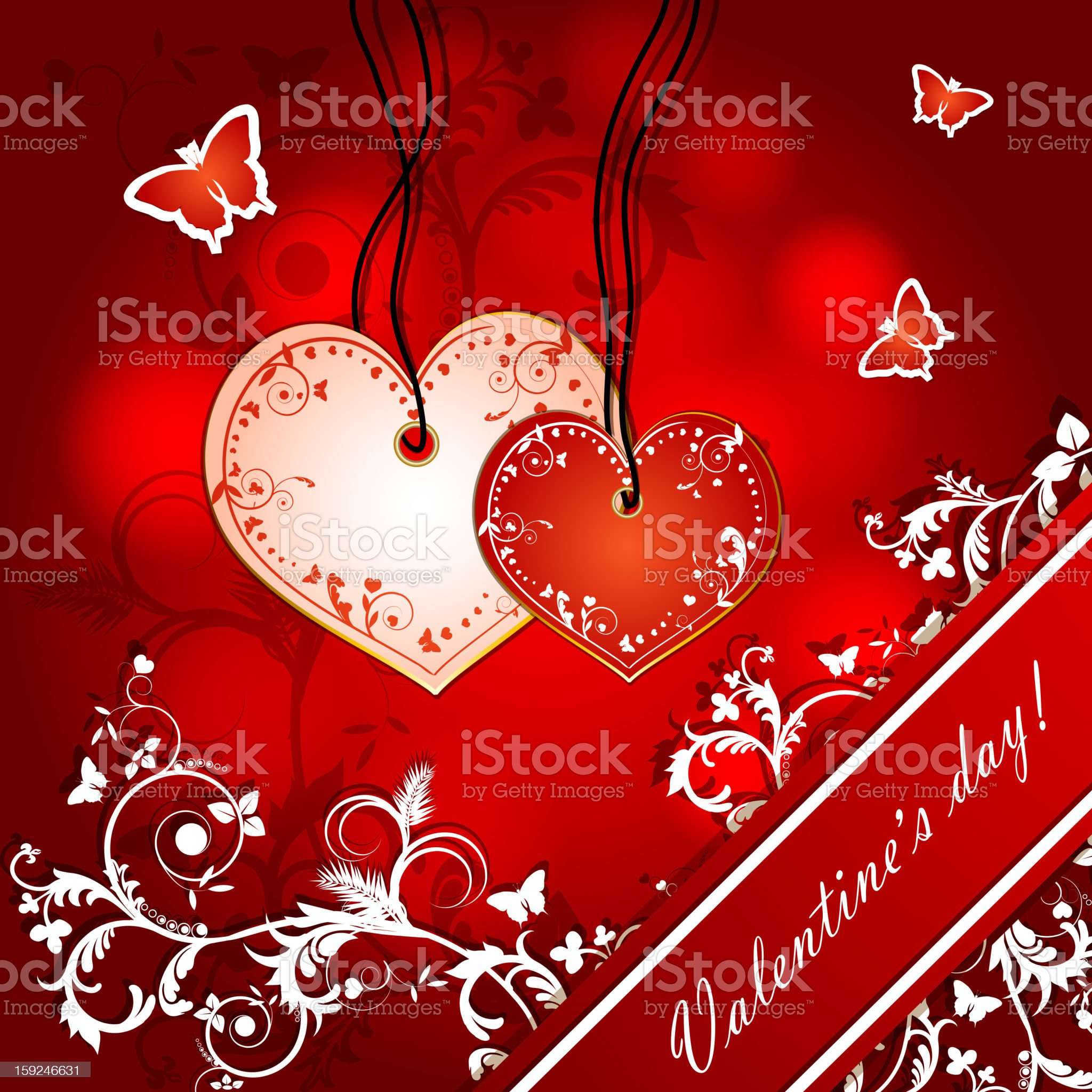 Illustration with hearts of love royalty-free stock vector art