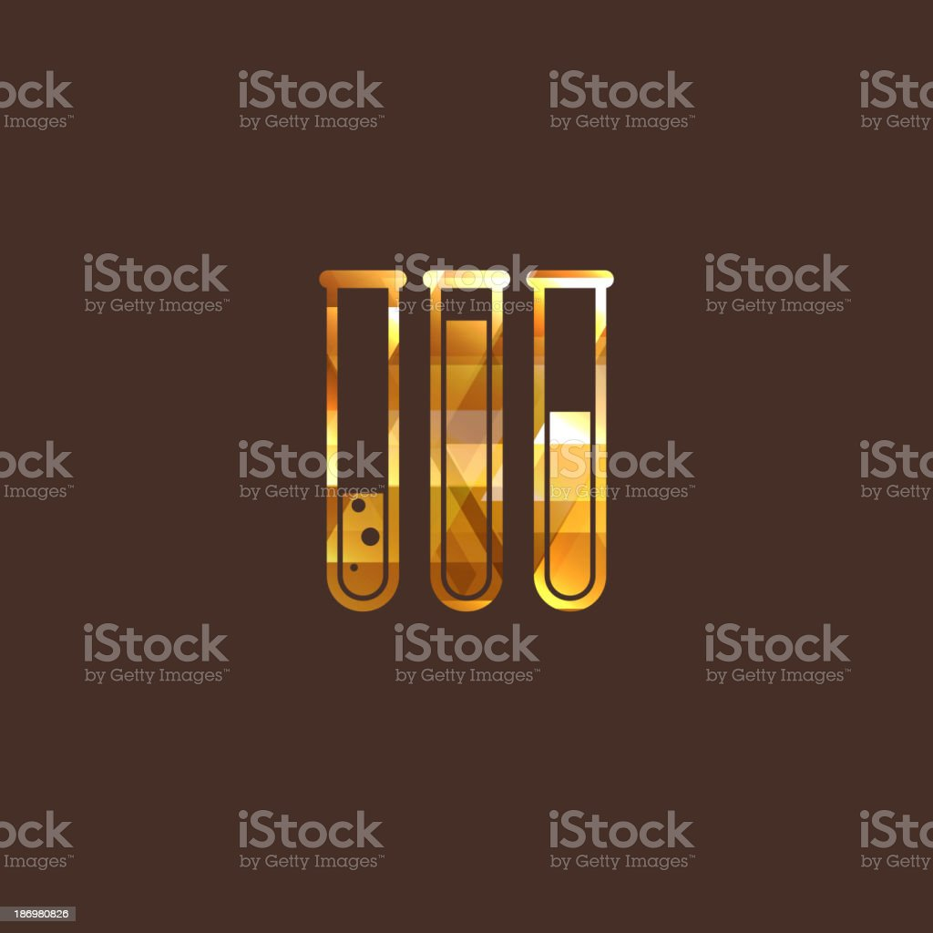 illustration with laboratory equipment icon royalty-free stock vector art