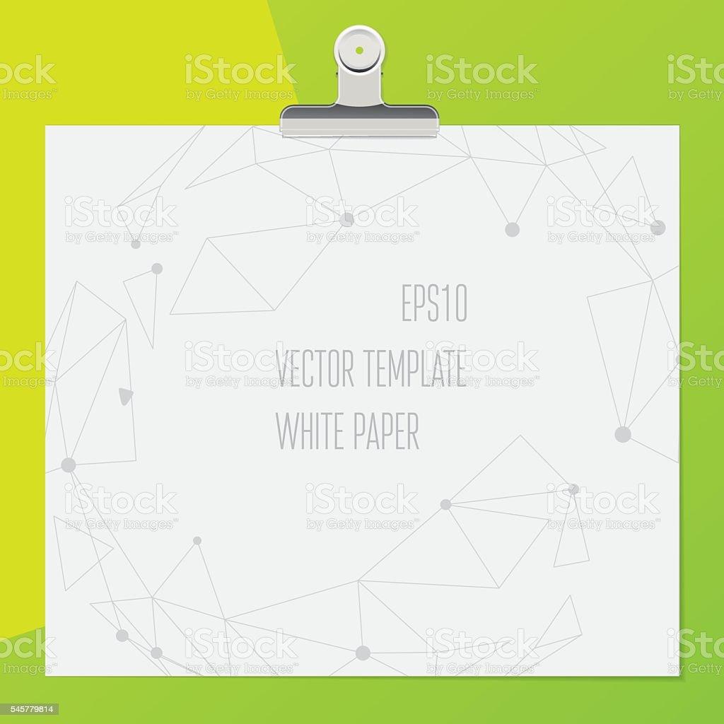 Illustration with paper clip. Template design vector art illustration