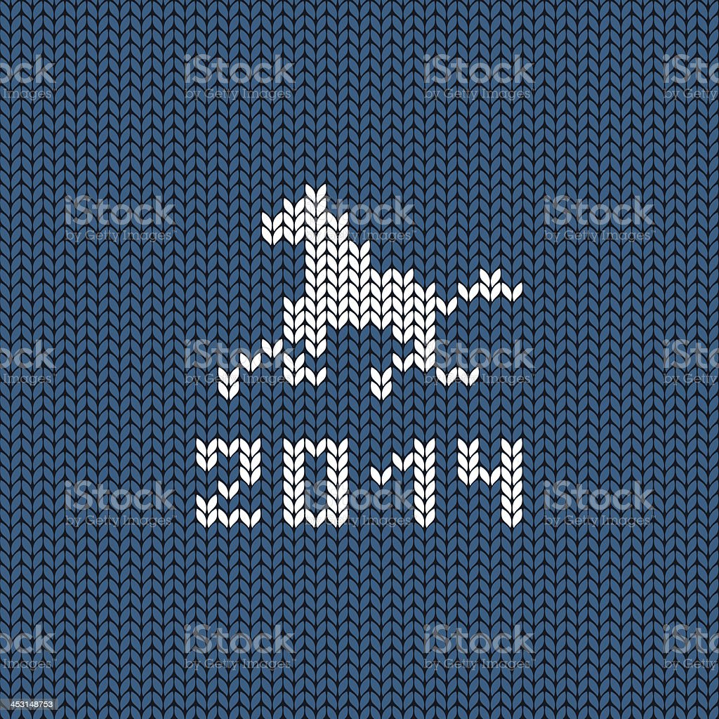 Illustration with symbol of New Year horse royalty-free stock vector art