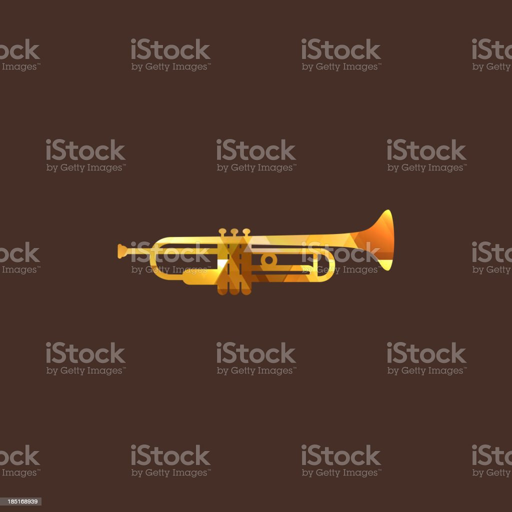 illustration with the diamond trumpet icon royalty-free stock vector art