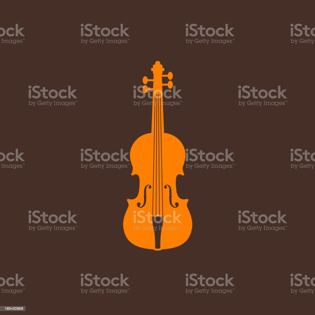 illustration with the violin vector art illustration