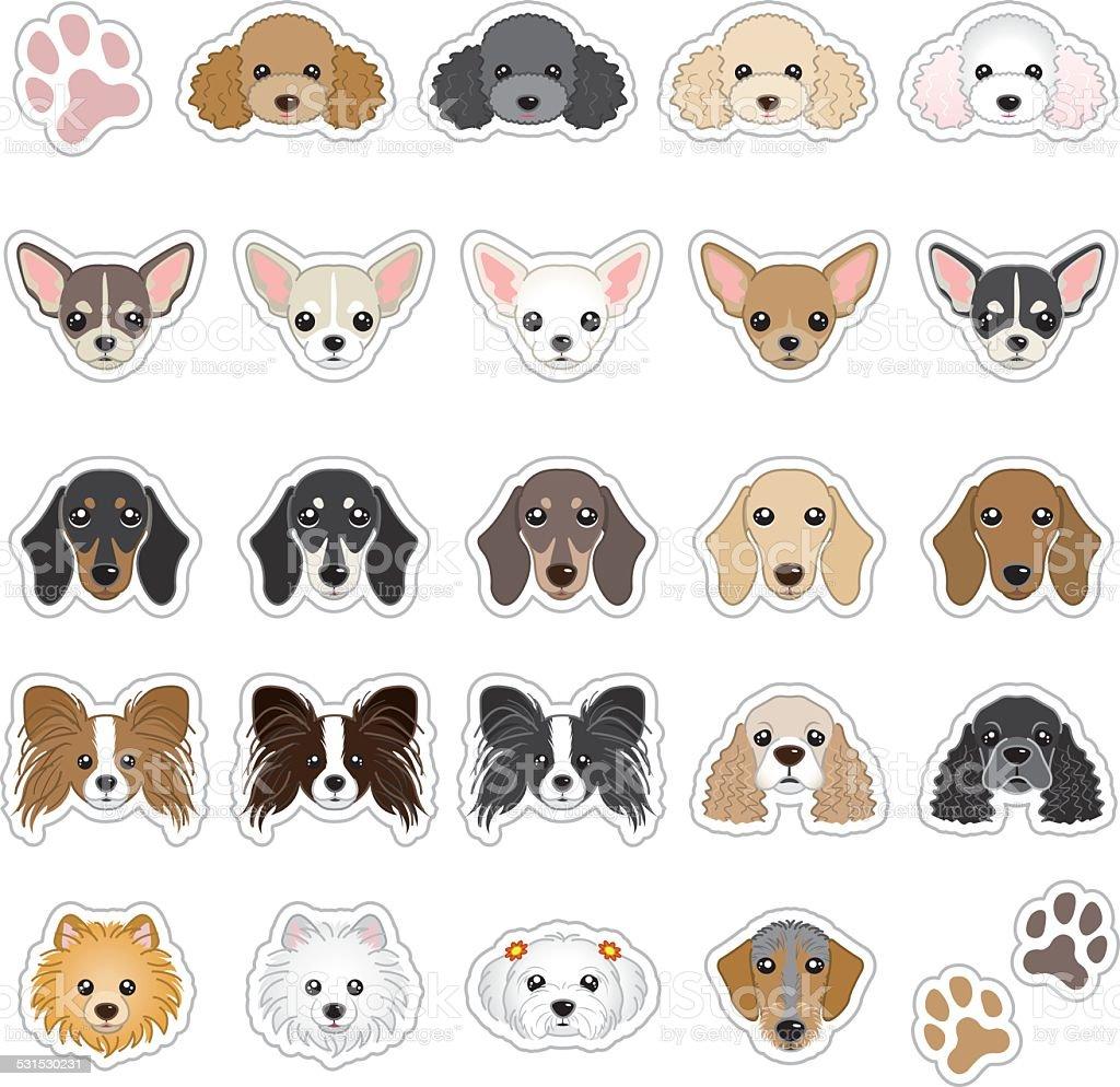 Dog face vector
