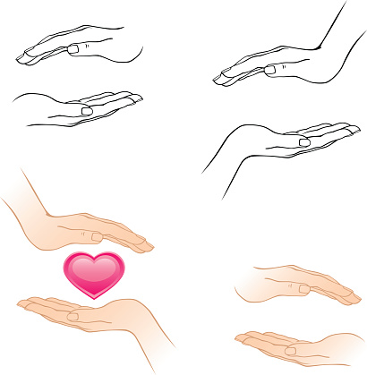 how to draw cupped hands