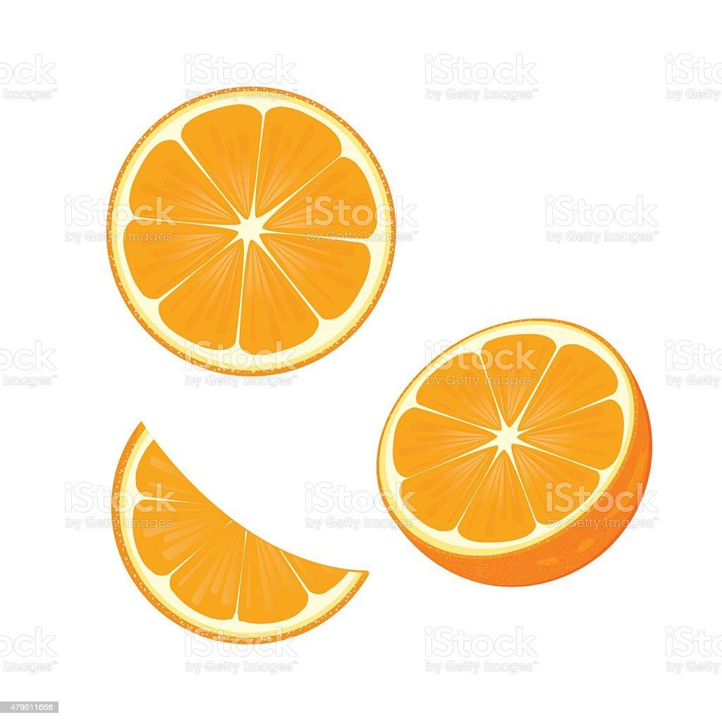 Illustrations.orange vector art illustration