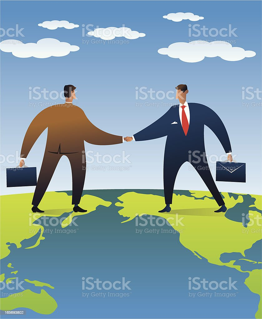 Illustrative picture of global business vector art illustration