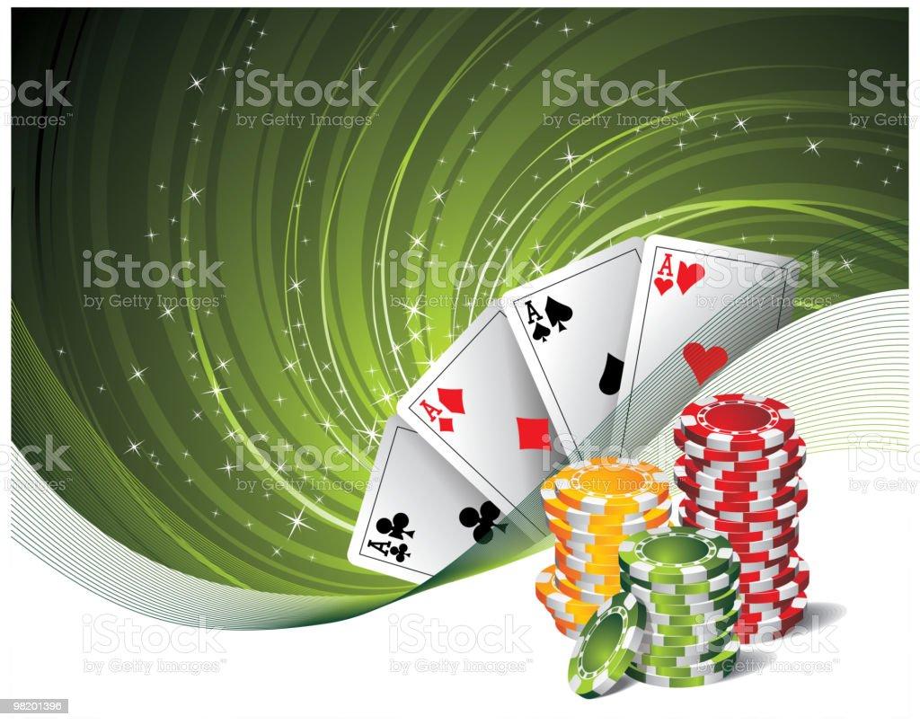 Ilustration on a casino theme. vector art illustration