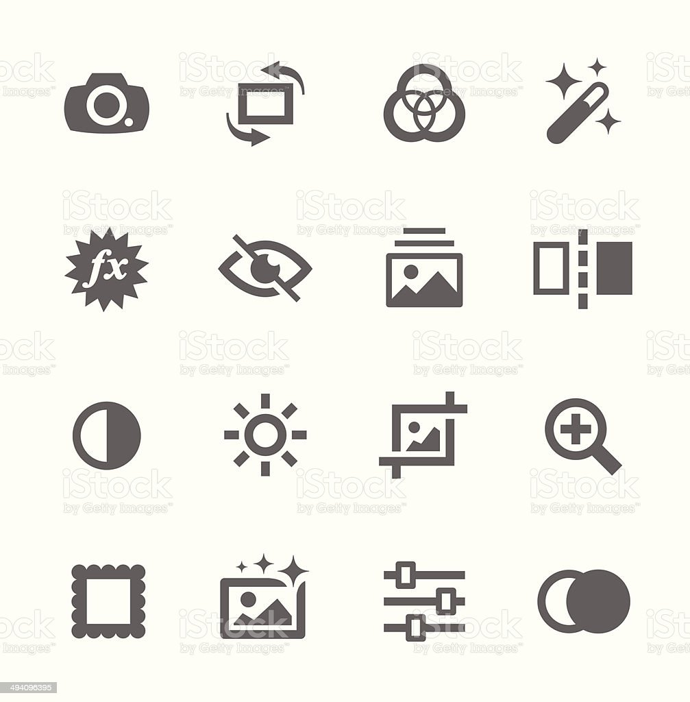 Image Editing Icons vector art illustration