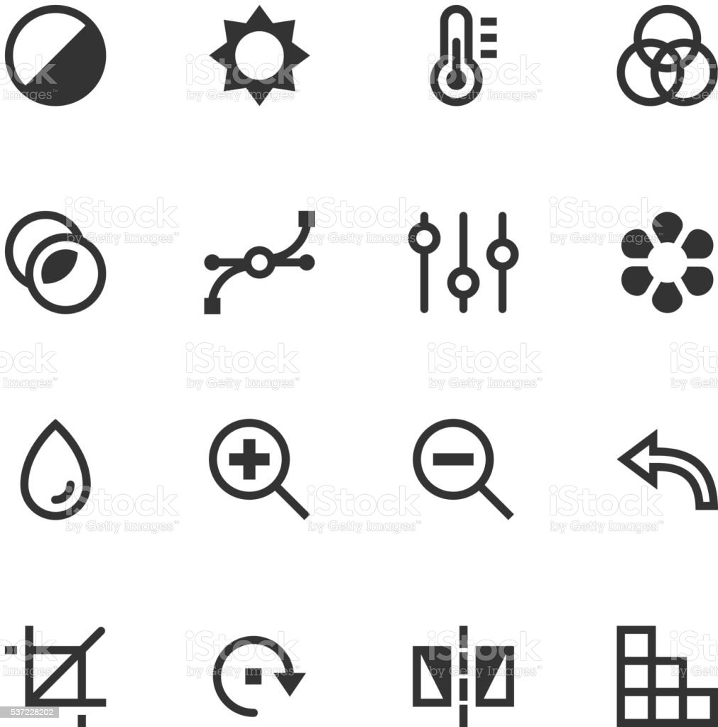 Image editing vector icons vector art illustration