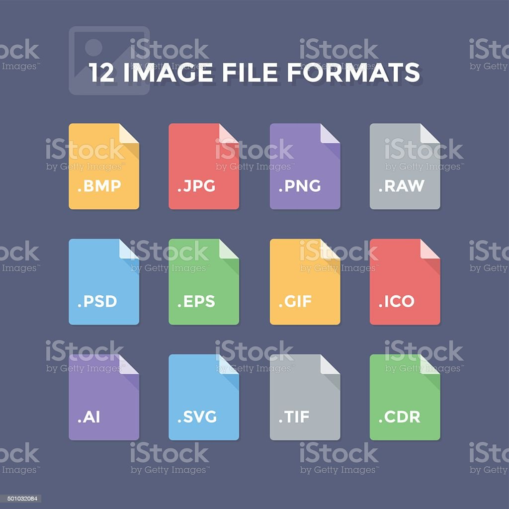 Image File Formats vector art illustration