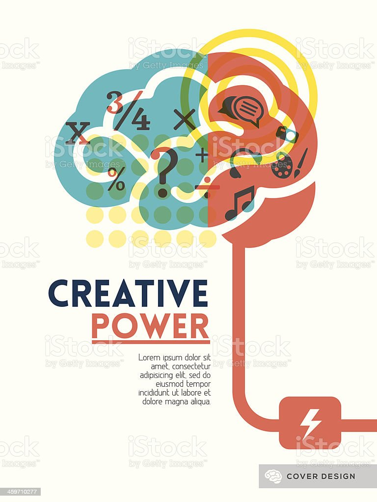 Image illustrating the creative power of the brain vector art illustration