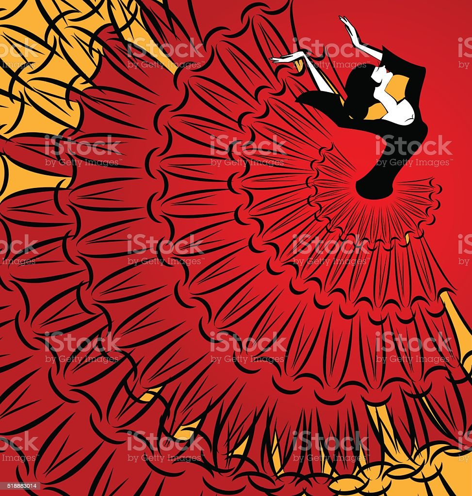 image of abstract dancer vector art illustration