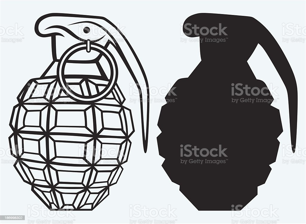 Image of an manual grenade royalty-free stock vector art