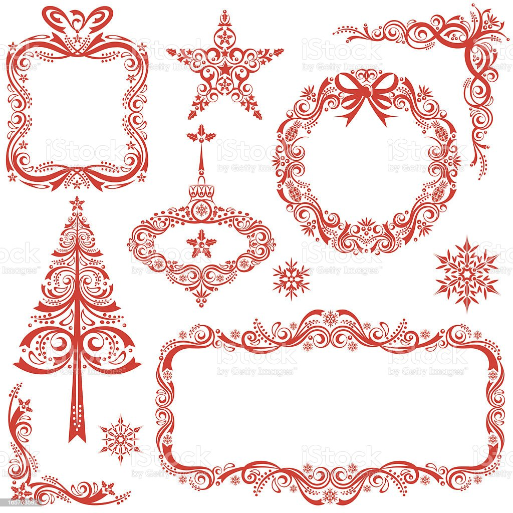 image of christmas design templates in red stock vector art image of christmas design templates in red royalty stock vector art