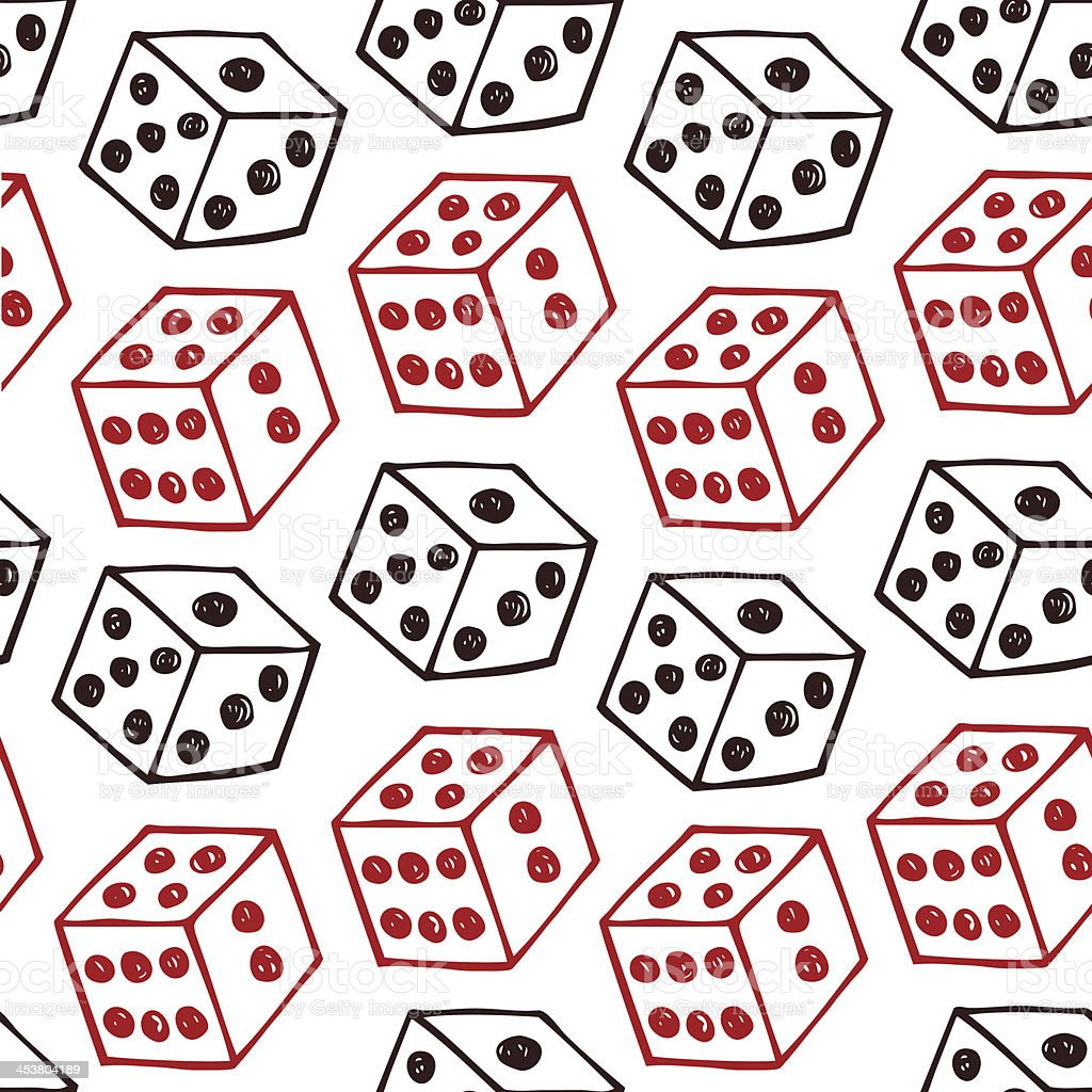 Image of dice. Seamless pattern with bricks royalty-free stock vector art