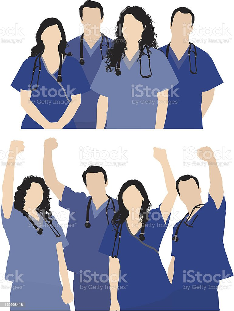 Image of medical professionals royalty-free stock vector art