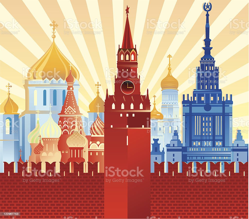 Image of Moscow vector art illustration