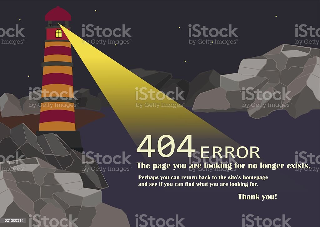 Image of Page 'Not Found 404 Error vector art illustration
