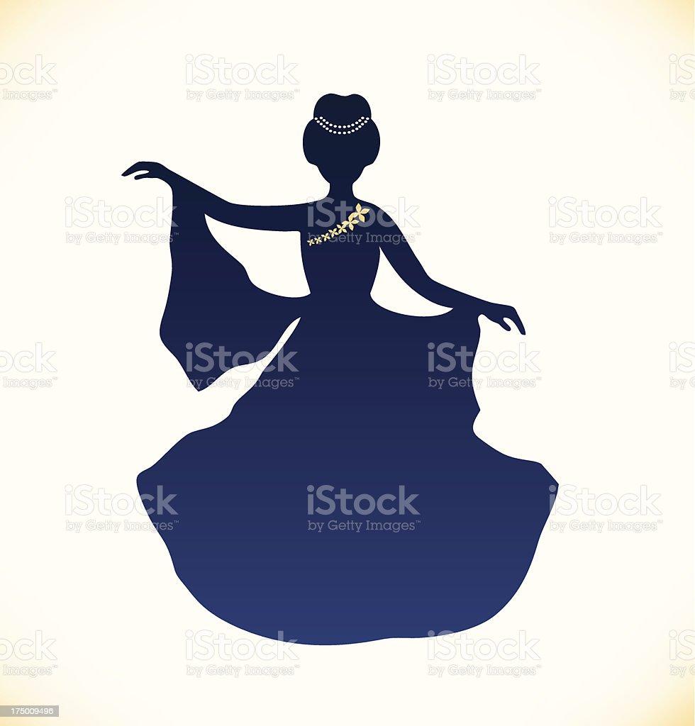Image of romantic aristocratic woman vector art illustration