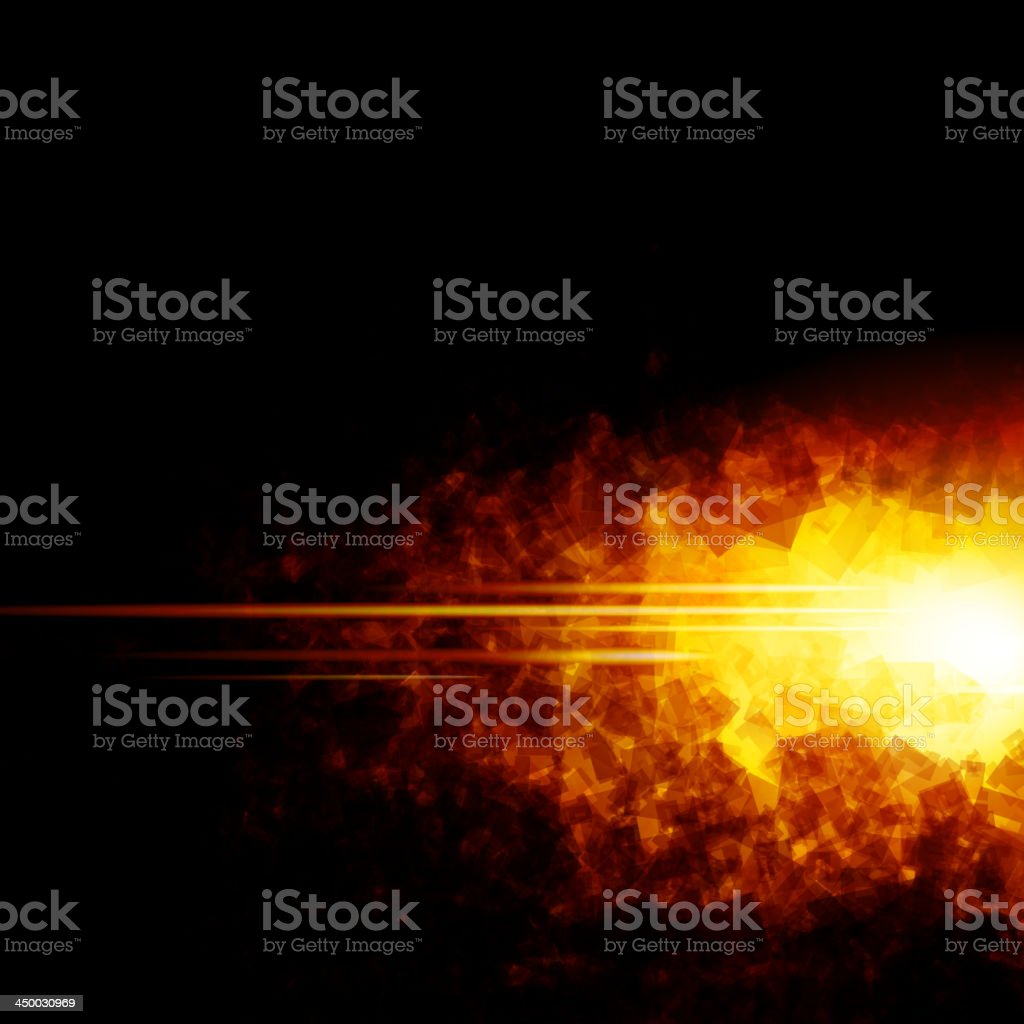 Image portraying fire for use in web design, etc. vector art illustration