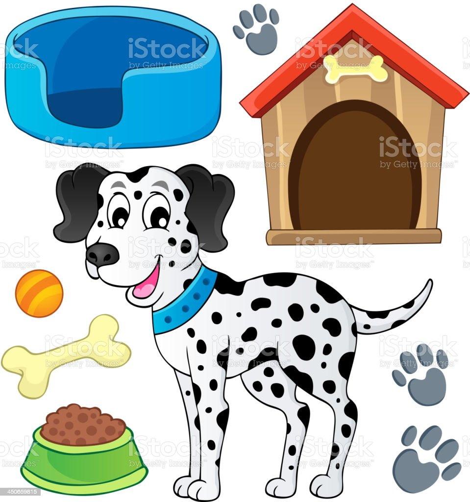 Image with dog theme 7 royalty-free stock vector art