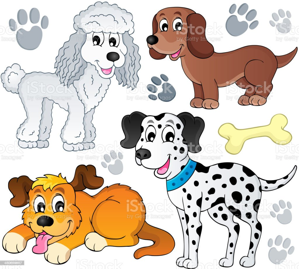 Image with dog topic 3 royalty-free stock vector art