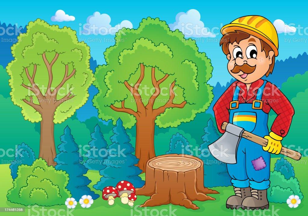 Image with lumberjack theme 2 royalty-free stock vector art