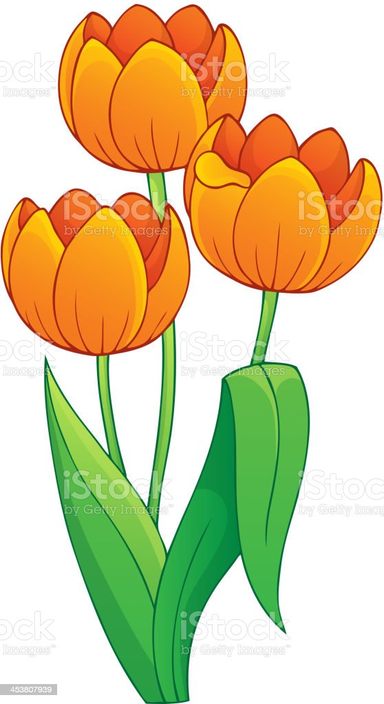 Image with tulip flower theme 1 royalty-free stock vector art