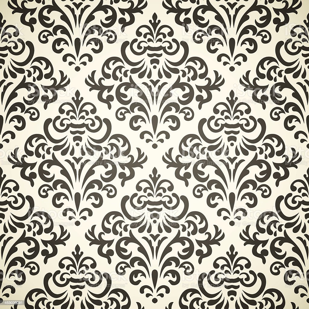 Imagen of Damask seamless backgrounds royalty-free stock vector art